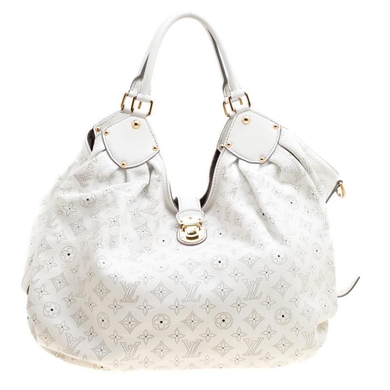 Louis Vuitton White Monogram Mahina Leather Xl Bag