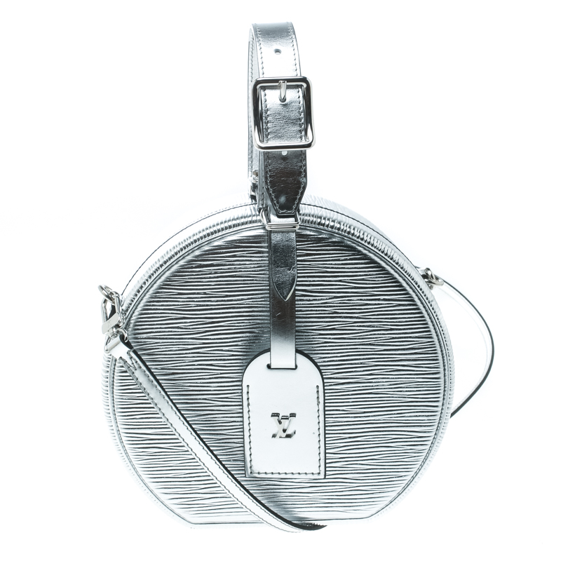 444e6cb296e4 ... Louis Vuitton Silver Epi Leather Petite Boite Chapeau Bag. nextprev.  prevnext