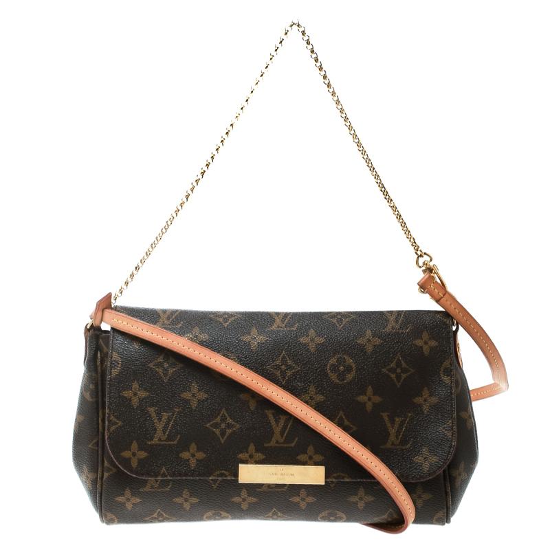 39f08ea07b Buy Louis Vuitton Monogram Canvas Favorite MM Crossbody Bag 171016 ...