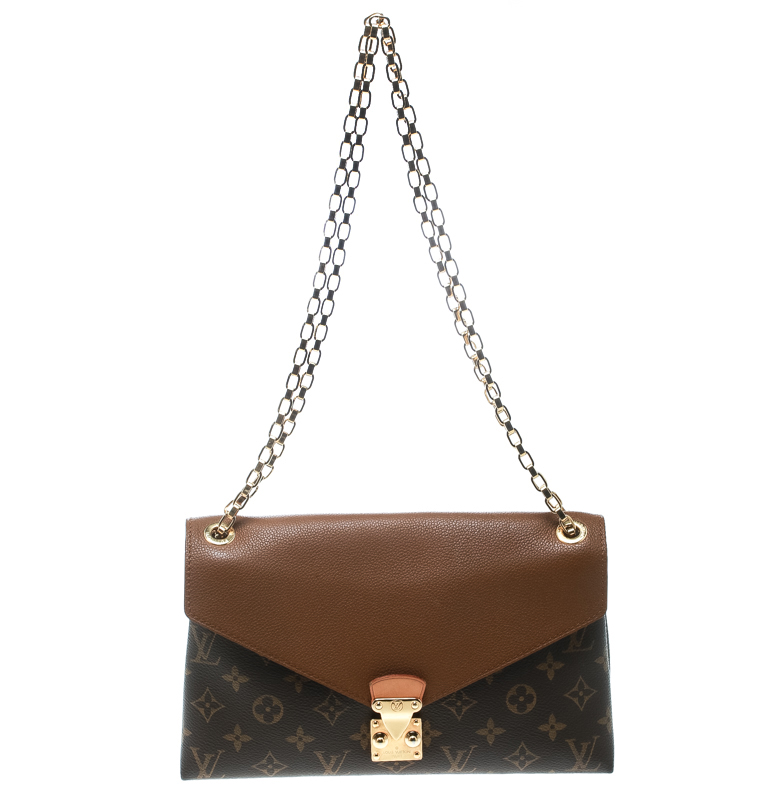 ... Louis Vuitton Brown Monogram Canvas Pallas Chain Bag. nextprev. prevnext 69114c7e410df