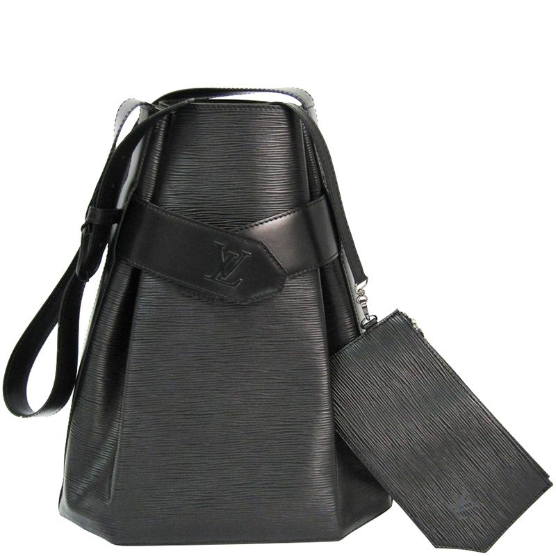 b6f779e99e5 Buy Louis Vuitton Noir Epi Leather Sac d Epaule Bag 175118 at best ...