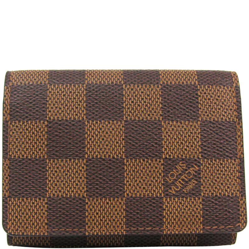 f60485fdff0d ... Louis Vuitton Damier Ebene Canvas Business Card Holder. nextprev.  prevnext