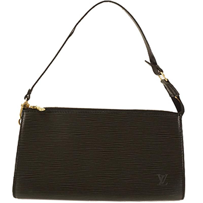 Louis Vuitton Noir Epi Leather Pochette Accessoires 24 Bag