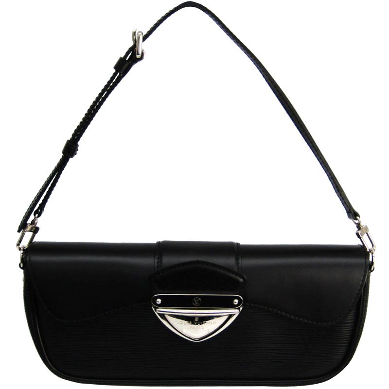 08e9f8e0723b ... Louis Vuitton Noir Epi Leather Montaigne Clutch Bag. nextprev. prevnext