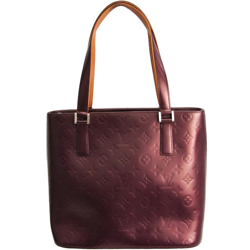 Louis Vuitton Purple Monogram Mat Stockton Bag