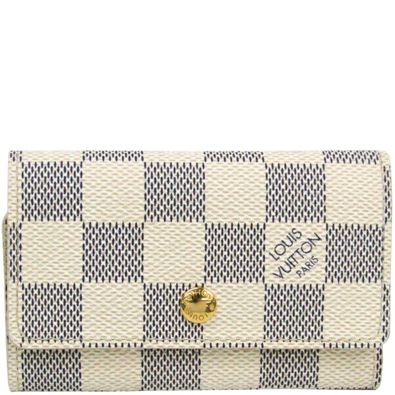 0233158974ff ... Louis Vuitton Damier Azur Canvas 6 Key Holder. nextprev. prevnext