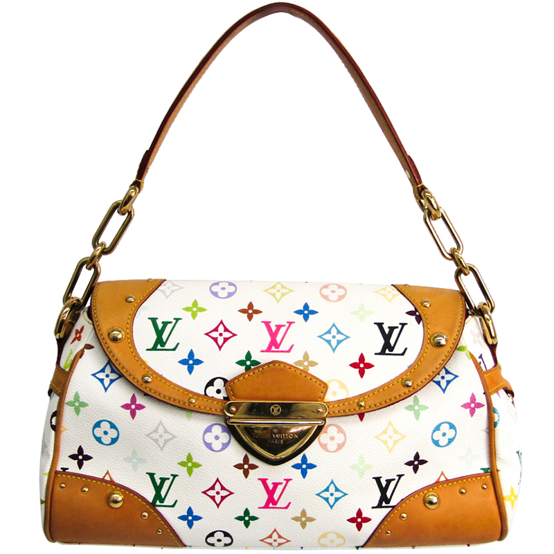cbc9f8173075 ... Louis Vuitton White Monogram Multicolore Beverly MM Bag. nextprev.  prevnext