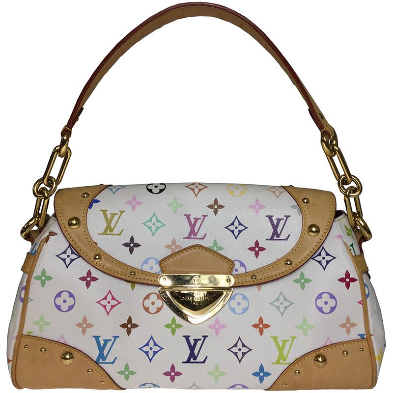 5ba09619a26a ... Louis Vuitton White Monogram Multicolore Beverly MM Bag. nextprev.  prevnext
