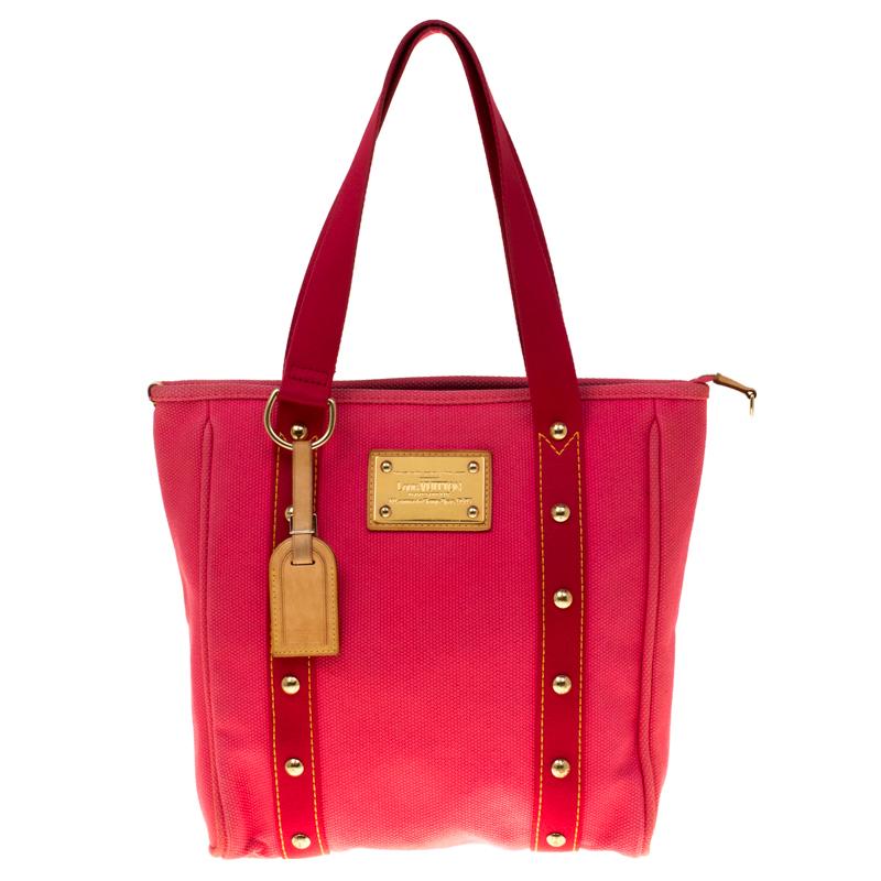 473d03b12a35 ... Louis Vuitton Pink Canvas Antigua Cabas MM Bag. nextprev. prevnext