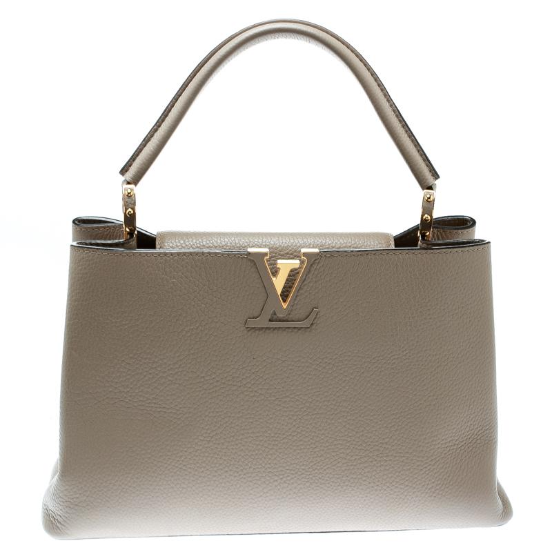 d2d1bdb12c13ce Buy Louis Vuitton Galet Taurillon Leather Capucines MM Bag 178726 at ...