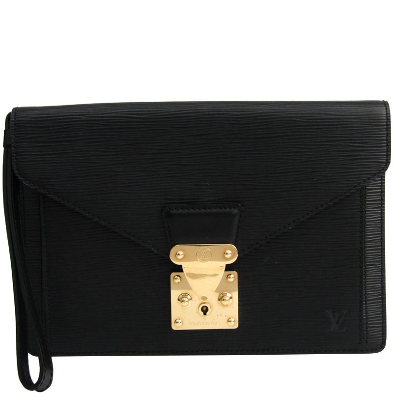 49cb7f70ac16 ... Louis Vuitton Noir Epi Leather Sellier Dragonne Clutch Bag. nextprev.  prevnext