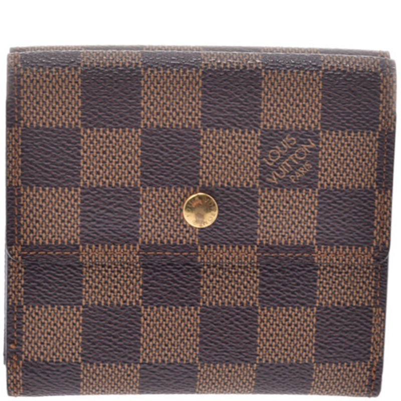 Buy Louis Vuitton Damier Ebene Canvas Wallet 183153 at best price  599ef23a02bc2