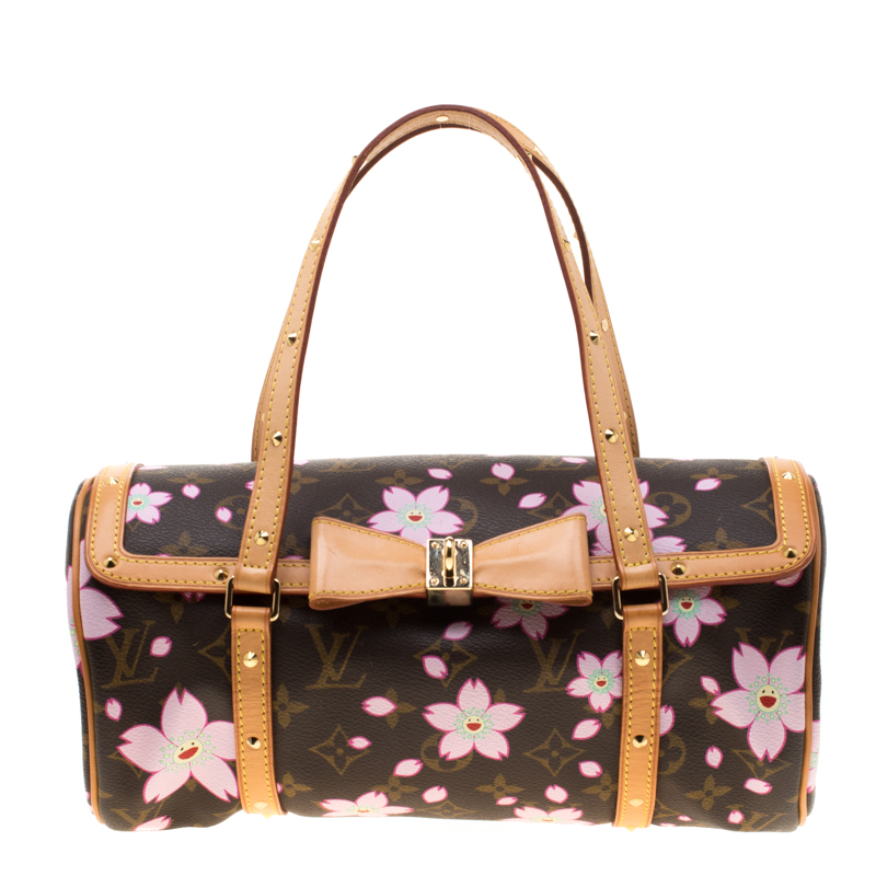 2af7ebec79 Louis Vuitton Monogram Canvas Cherry Blossom Papillon Bowling. Louis Vuitton  Retro Cherry Blossom Takashi Murakami Handbags Leather Cloth Pink Ref 92862