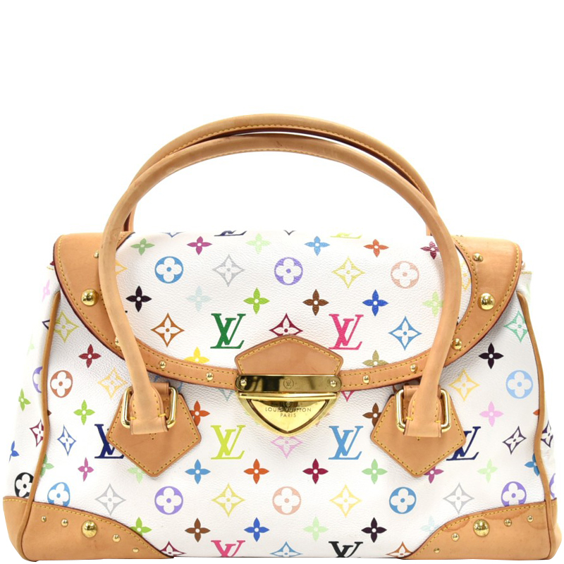 Louis Vuitton White Monogram Multicolore Beverly Gm Bag