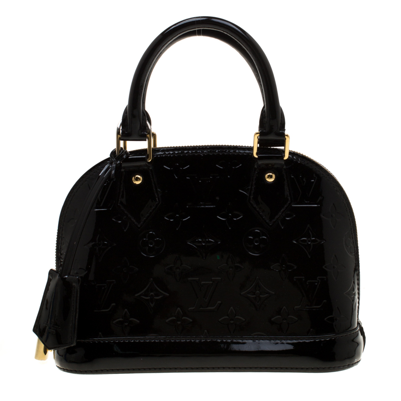 Louis Vuitton Black Monogram Vernis Alma Bb Bag Louis Vuitton Tlc