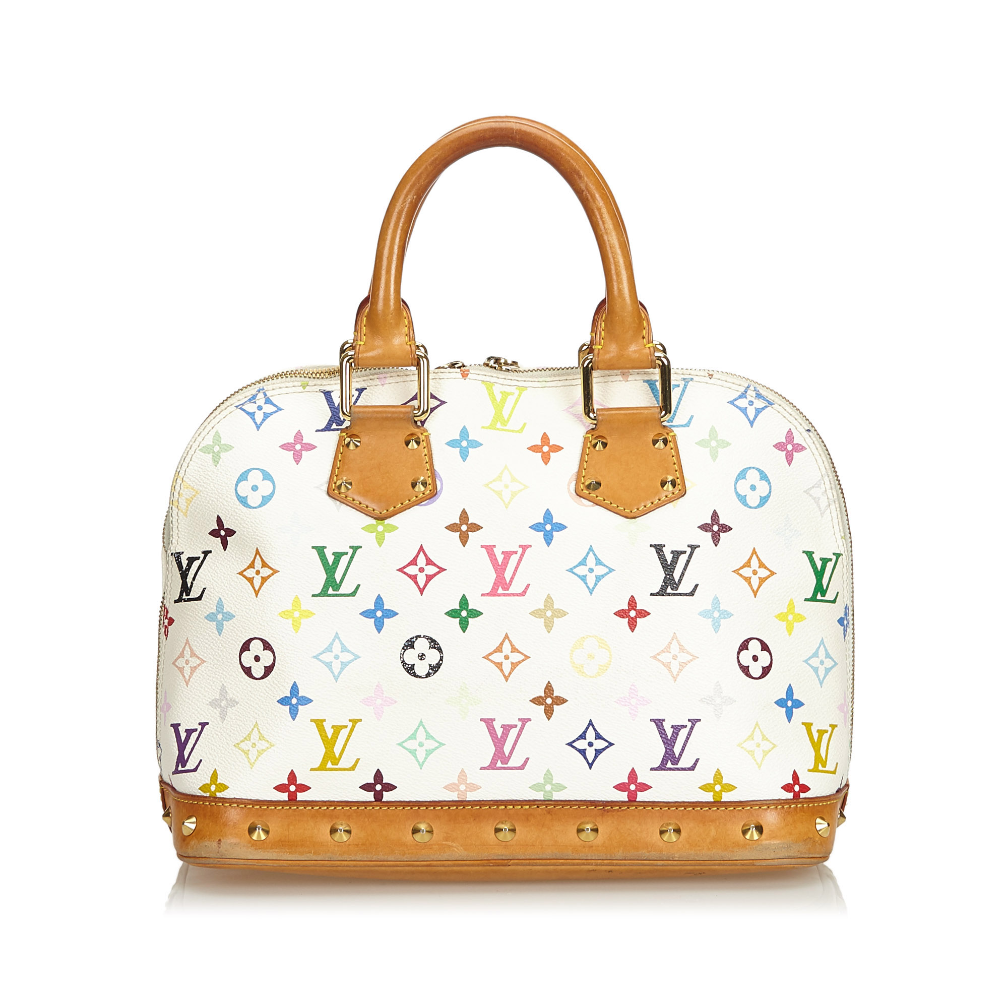 Louis Vuitton White Multicolor Monogram Alma Pm Bag