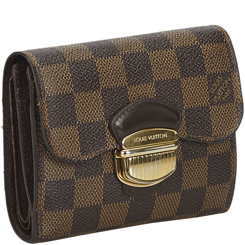 Louis Vuitton Damier Ebene Canvas Joey Clutch Bag, Brown  - buy with discount