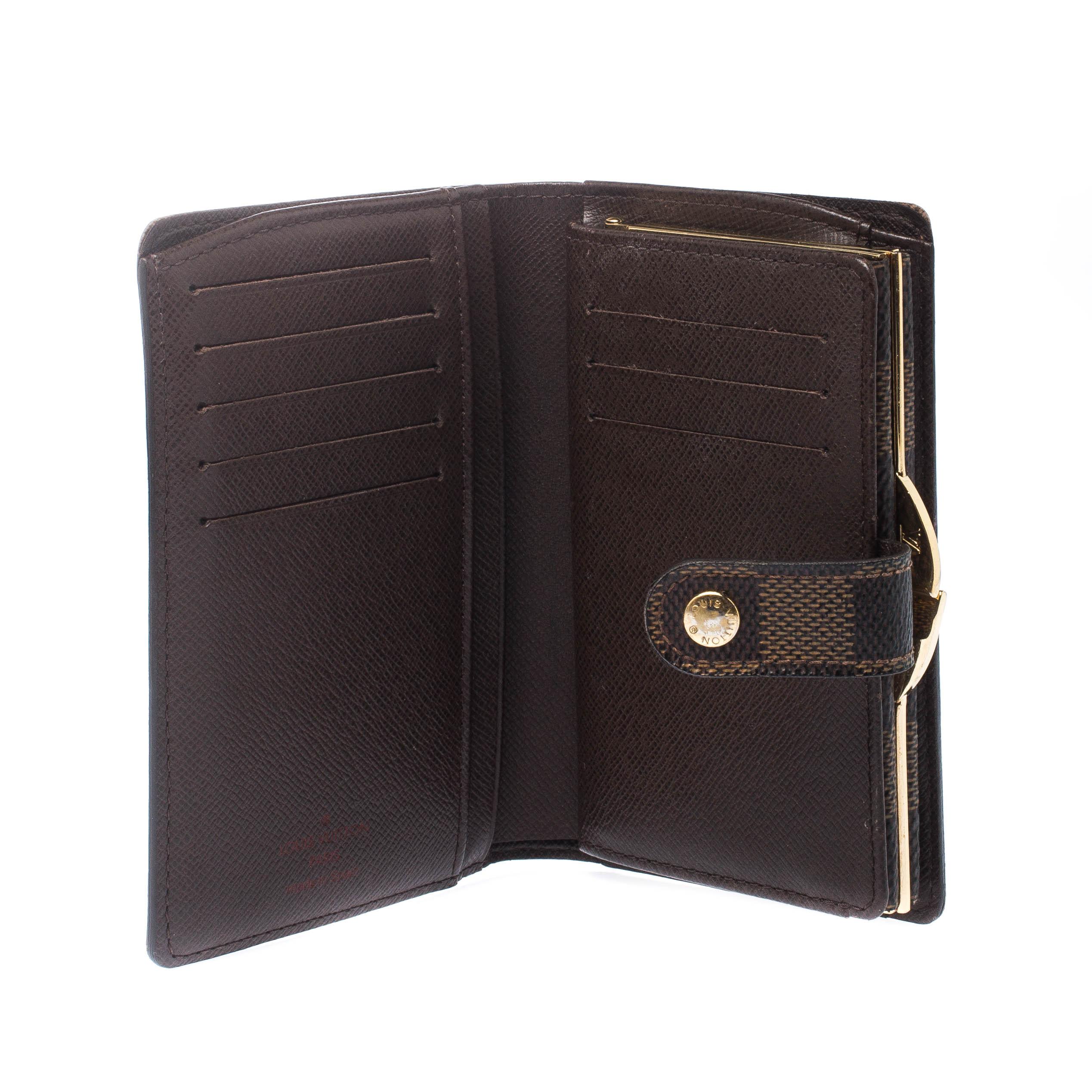 Louis Vuitton Damier Ebene Tela French Wallet