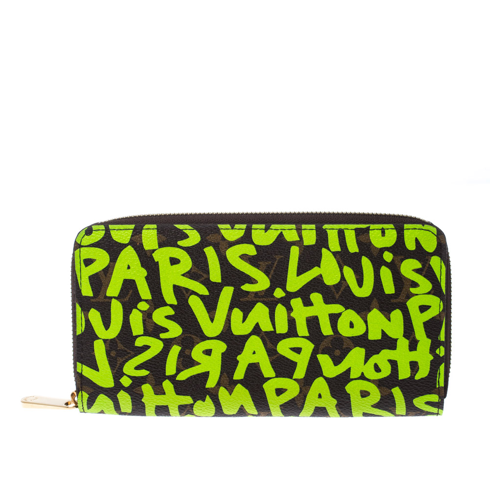Louis Vuitton Green Graffiti Stephen Sprouse Limited Edition Zippy Wallet