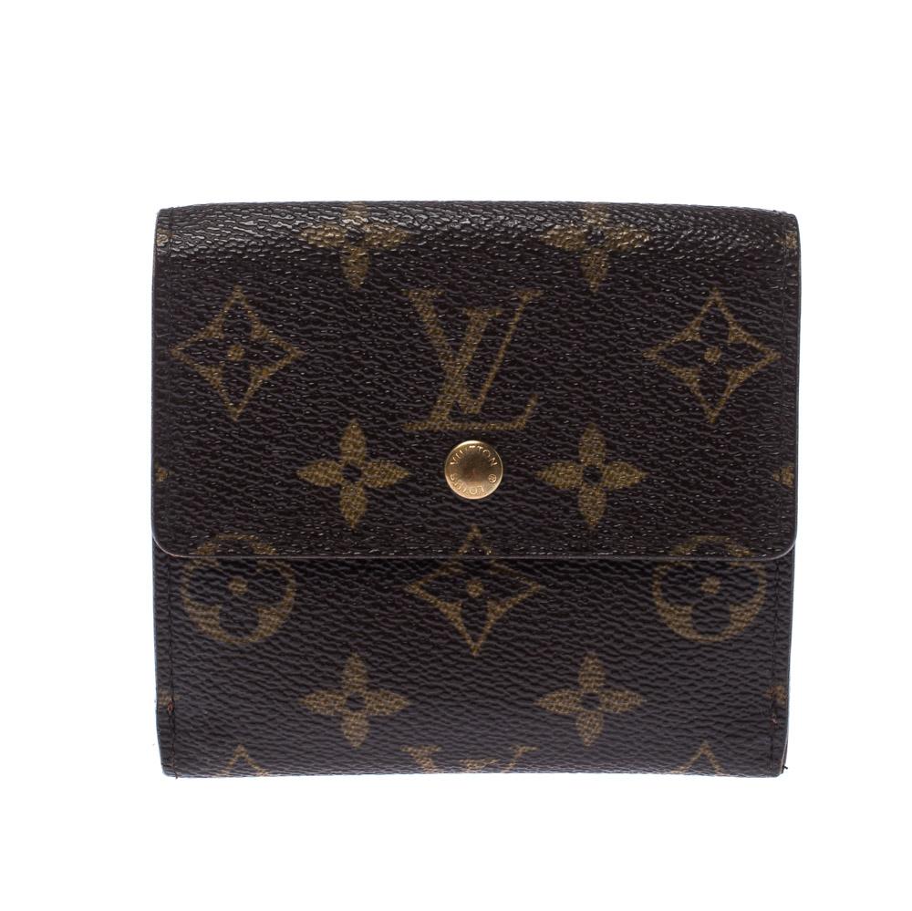 Louis Vuitton Monogram Canvas Flap Compact Wallet