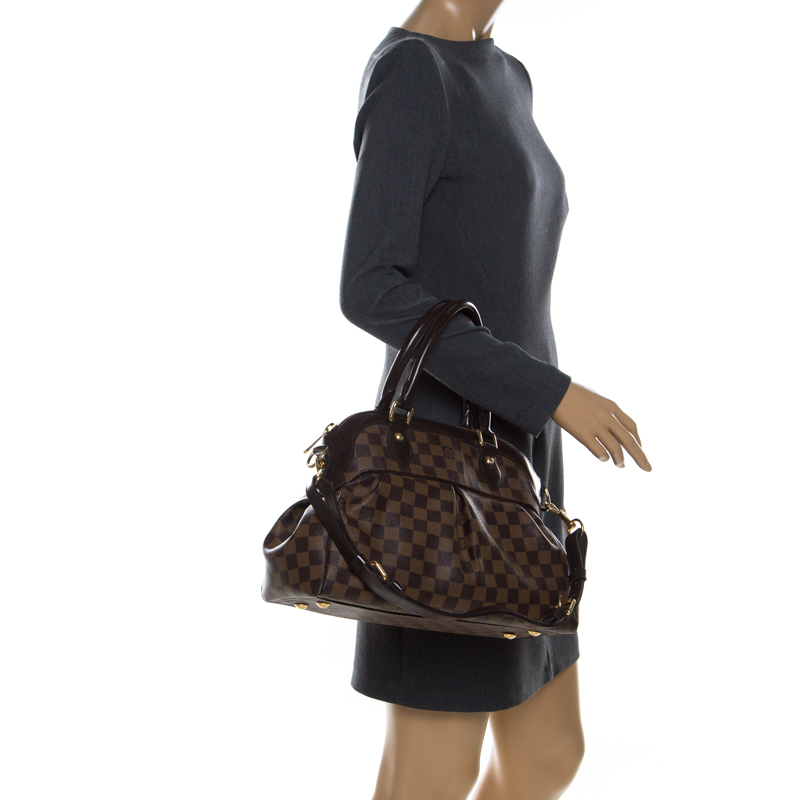 Louis Vuitton Damier Ebene Canvas Trevi GM Bag, Brown