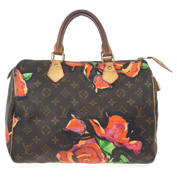 Buy Louis Vuitton Limited Edition Stephen Sprouse Roses Speedy 30 ... e6b72dbd93fa