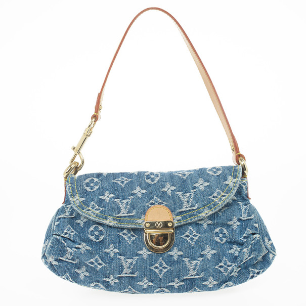 6d2abf9357a ... Louis Vuitton Blue Denim Monogram Mini Pleaty Bag. nextprev. prevnext