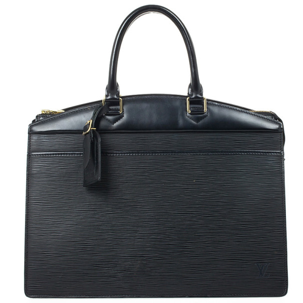 uk store beautiful style search for latest Louis Vuitton Black Epi Leather Riviera Bag