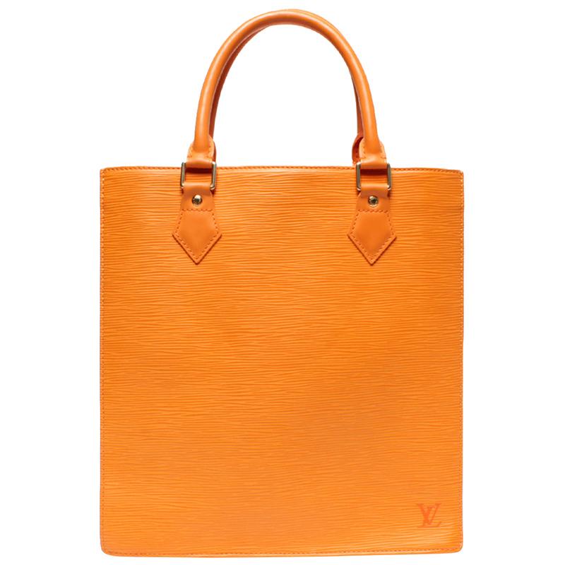 Louis Vuitton Orange Epi Leather Sac Plat Pm Bag