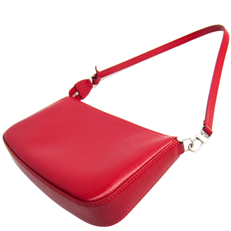 Louis Vuitton Carmine Epi Leather Accessories Pochette NM Bag, Red