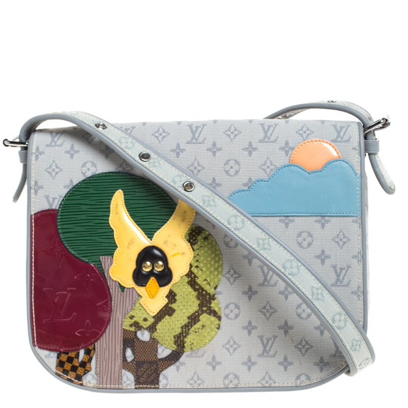 Louis Vuitton Grey Monogram Limited Edition Patchwork Conte de Fees Musette Bag