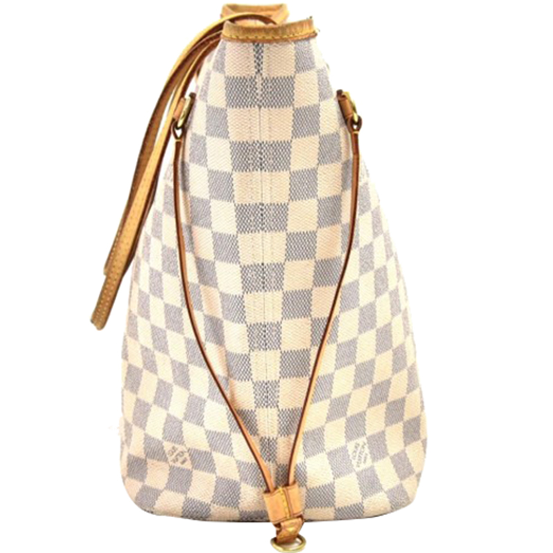 Louis Vuitton Damier Azur Canvas Neverfull MM Tote, White