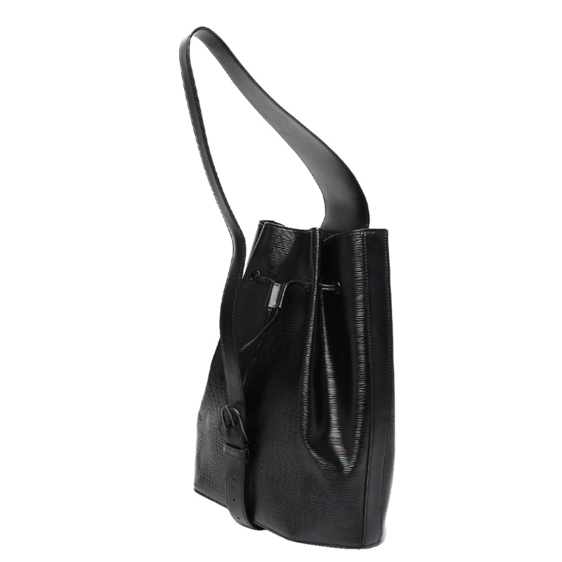 Louis Vuitton Noir Epi Leather Sack Shoulder Bag, Black
