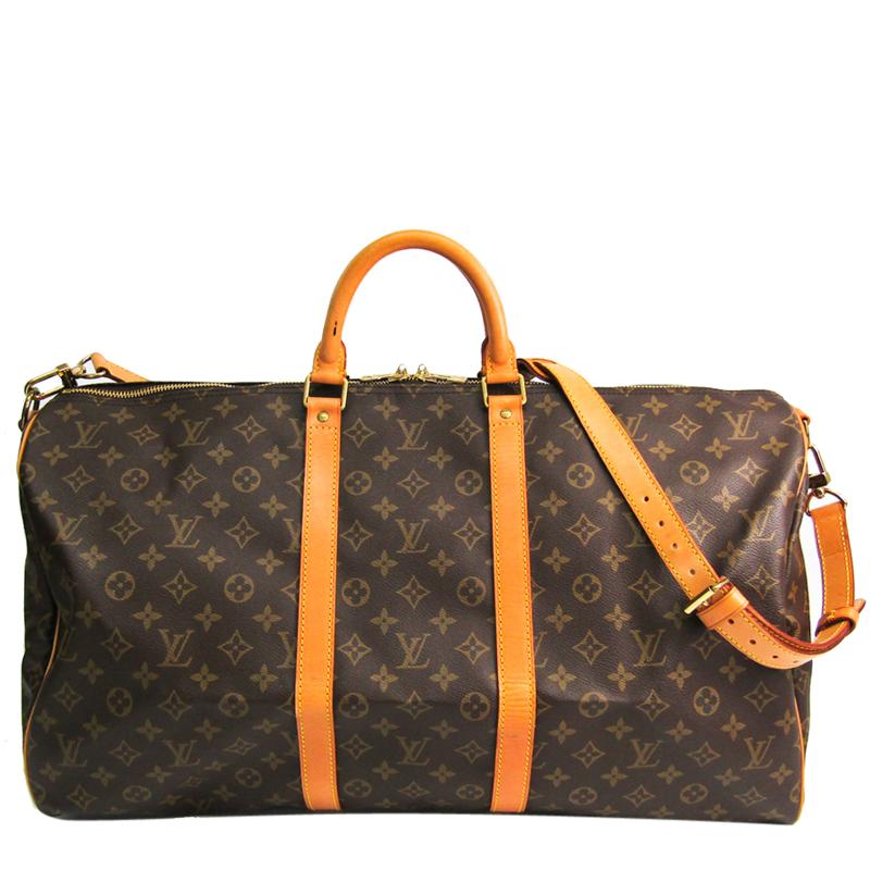Louis Vuitton Monogram Canvas Keepall Bandouliere 55 Bag