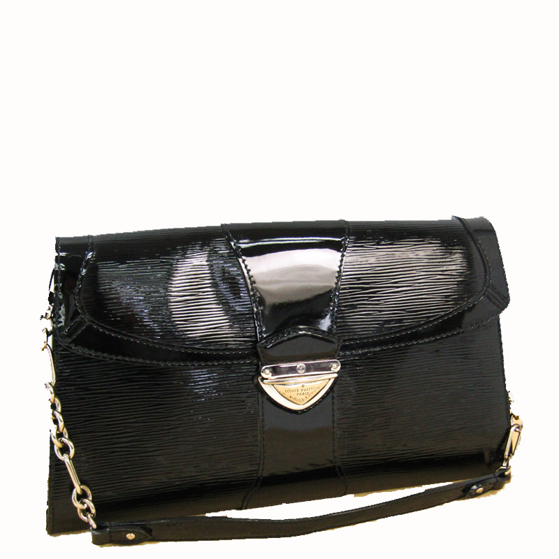 Louis Vuitton Noir Epi Electric Leather Pochette Bag, Black