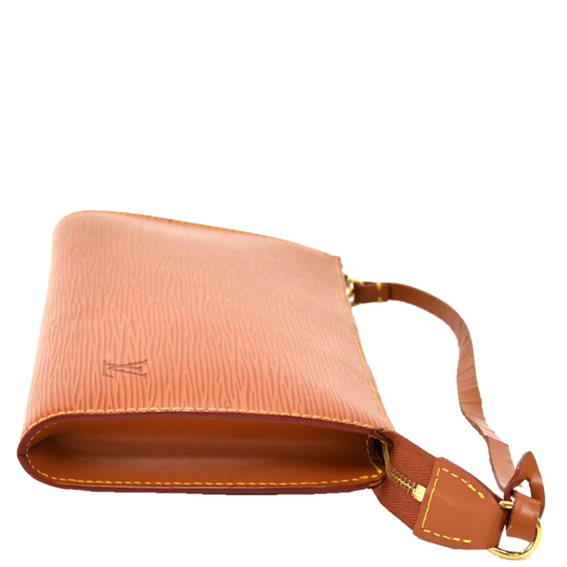 Louis Vuitton Cipango Gold Epi Leather Pochette Accessoires, Brown