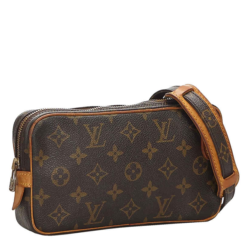 Louis Vuitton Monogram Canvas Pochette Marly Bandouliere Bag, Brown