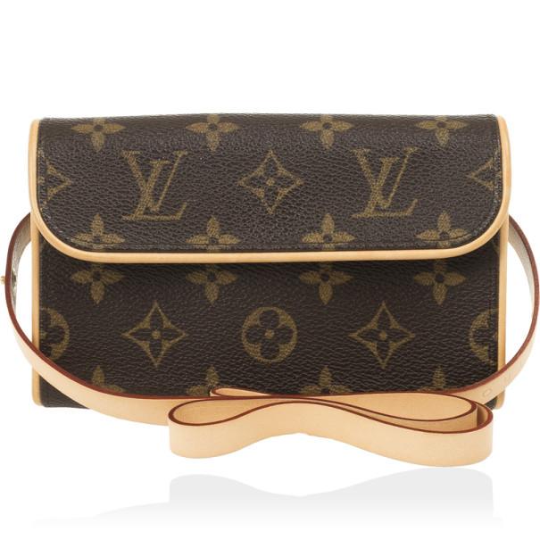 7505140fb5e30 ... Louis Vuitton Monogram Canvas Pochette Florentine Bag with Belt.  nextprev. prevnext