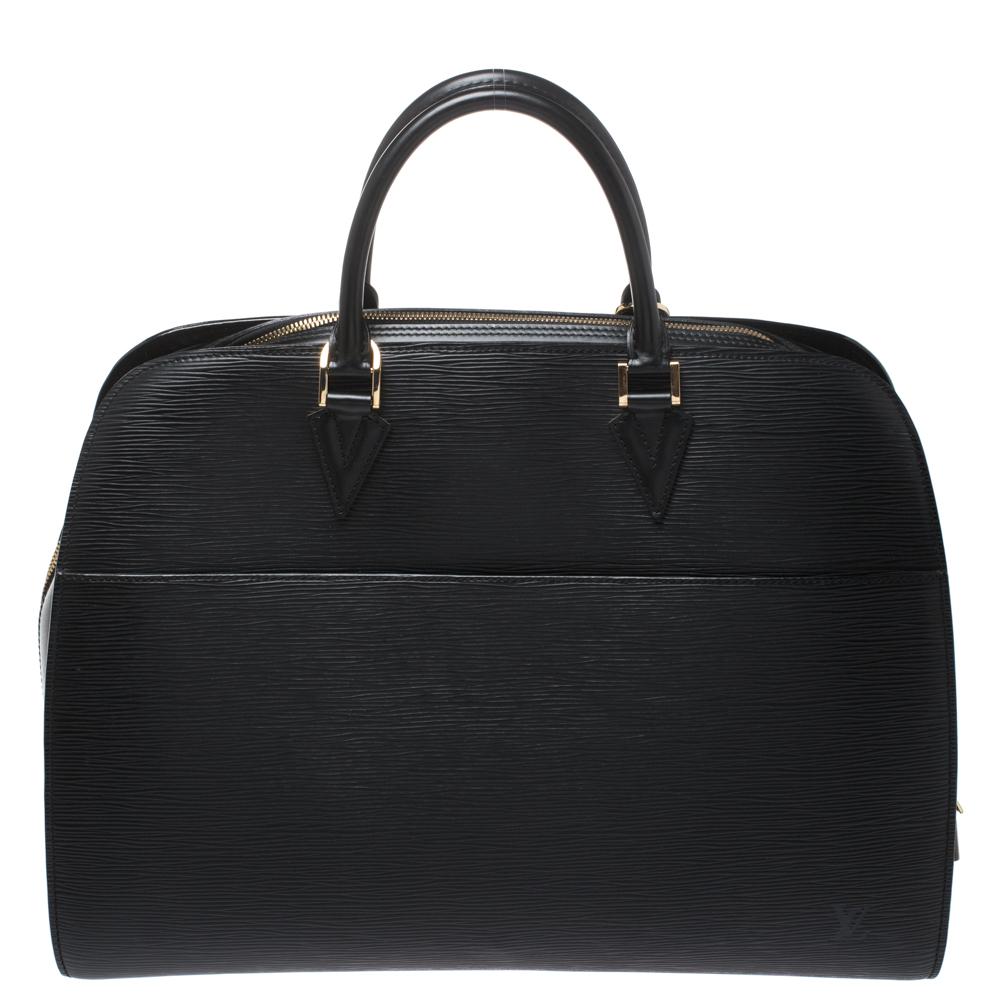 Louis Vuitton Black Epi Leather Sorbonne Bag