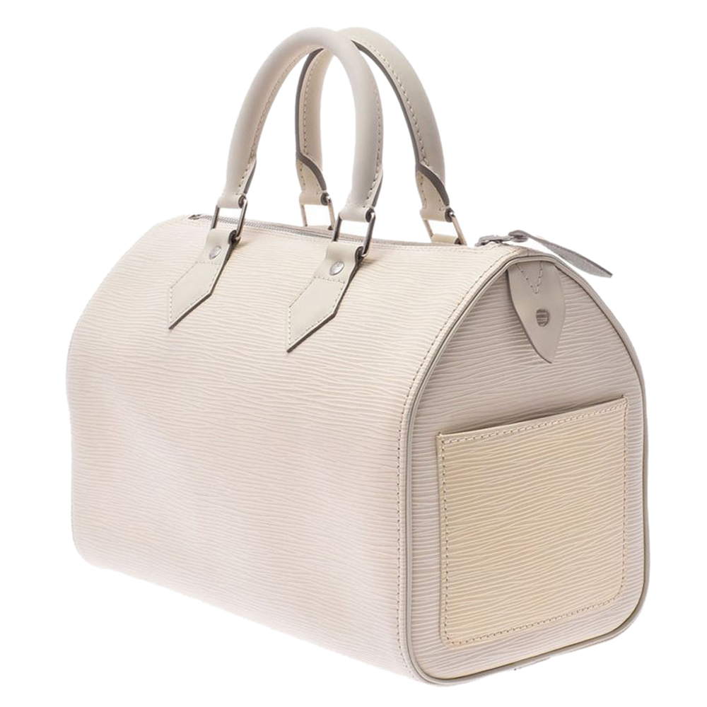 Louis Vuitton Ivory Epi Leather Speedy 25 Bag, White