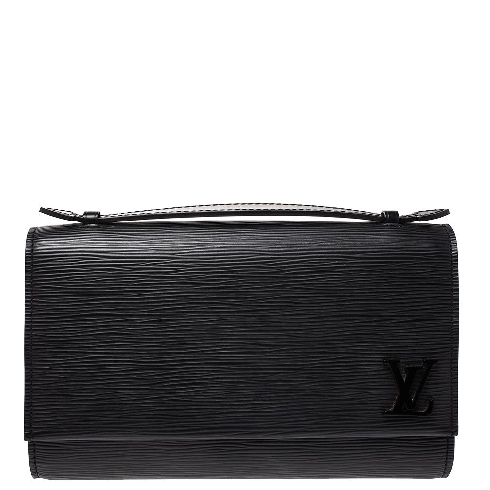 Louis Vuitton Black Epi Leather Clery Pochette Bag