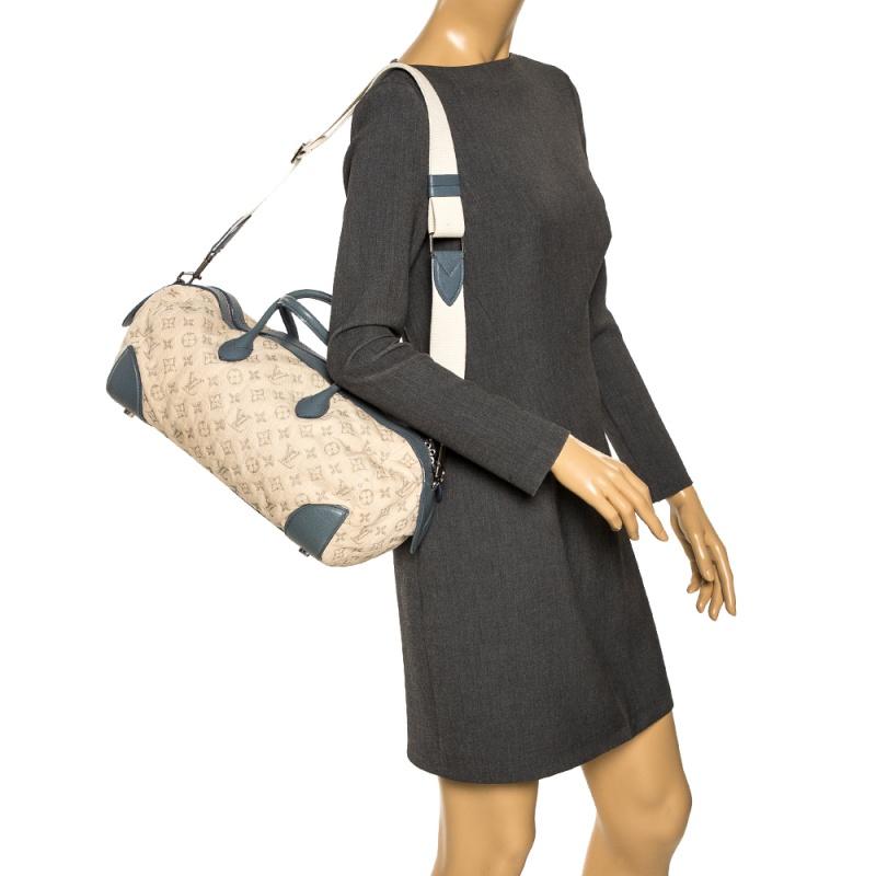 Louis Vuitton Limited Edition Blue Monogram Denim Speedy Round Bag  - buy with discount
