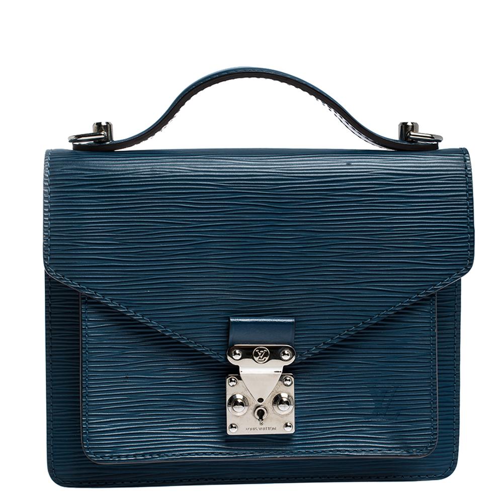 Louis Vuitton Indigo Epi Leather Monceau BB Bag