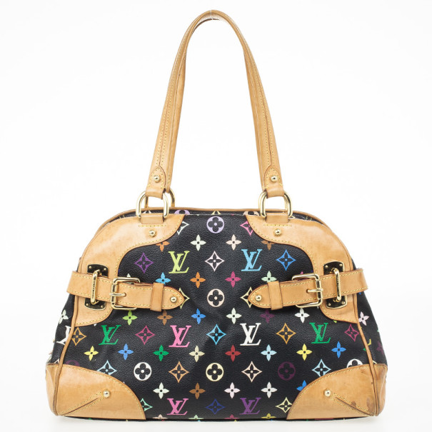 7341bba5683ad Buy Louis Vuitton Multicolor Black Claudia Satchel 28871 at best price