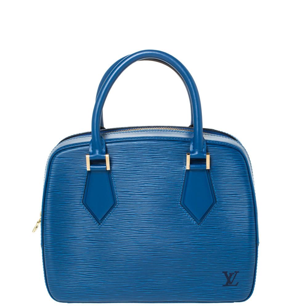 Louis Vuitton Toledo Blue Epi Leather Sablons Bag