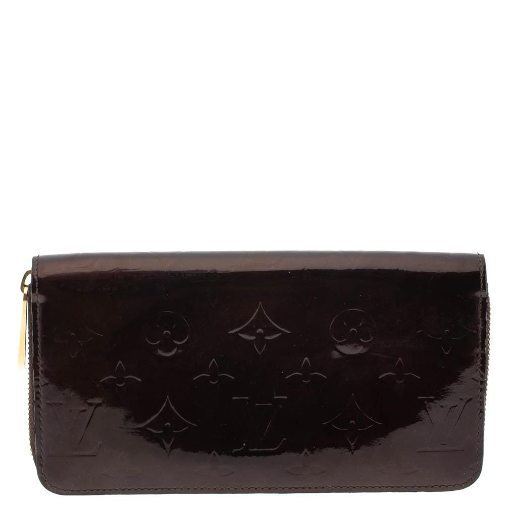 Louis Vuitton Amarante Monogram Vernis Zip Around Wallet Louis Vuitton Tlc