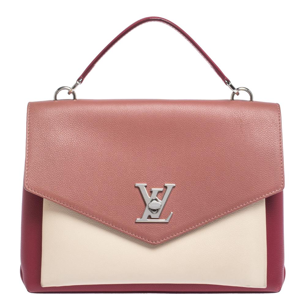 Louis Vuitton Two Tone Pink Leather Lockme Ii Bag Louis Vuitton Tlc