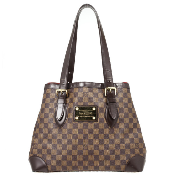 20ae6a4d1823 Buy Louis Vuitton Damier Ebene Hampstead MM Tote 30035 at best price ...