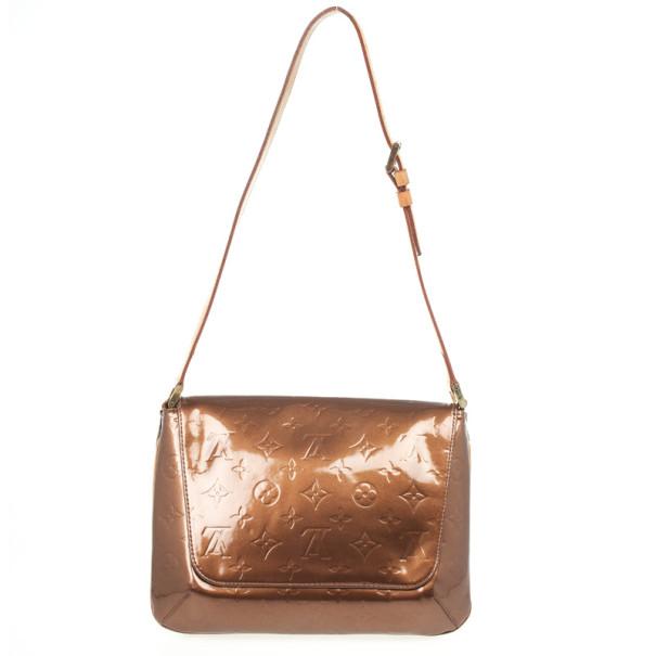 a5453378c8ac ... Louis Vuitton Bronze Monogram Vernis Thompson Street Bag. nextprev.  prevnext