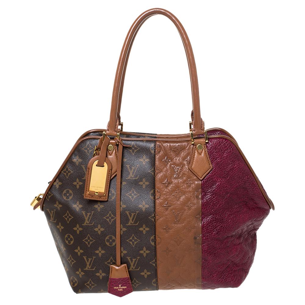Louis Vuitton Bordeaux Monogram Canvas and Leather Limited Edition Blocks Zipped Bag